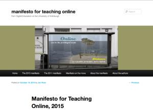 New manifesto