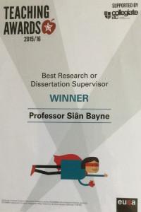 Sian's Certificate
